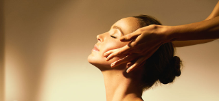 Woman receiving a Decleor Yoga Lift facial
