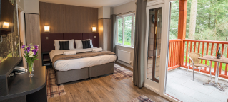 Executive lodges at Longleat Forest